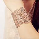billige Mode Halskæde-Dame Hul Armbånd / Bred Bangle - Vintage, Erklæring, Overdimensionerede Armbånd Guld / Sølv Til Stævnemøde / Gade
