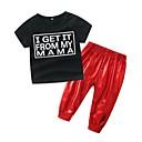 ieftine Set Îmbrăcăminte Băieți Bebeluși-Bebelus Unisex Casual Imprimeu Manșon scurt Bumbac Set Îmbrăcăminte / Copil