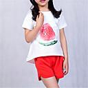 tanie Sukienki dla dziewczynek-Dzieci Dla dziewczynek Podstawowy Solidne kolory Krótki rękaw Poliester Komplet odzieży Biały 100