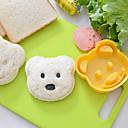 ieftine Ustenside de copt-ursuleț de pluș forma sandwich cutter diy plastic orez mucegai onigiri tăietor