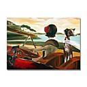 povoljno Slike ljudi-Hang oslikana uljanim bojama Ručno oslikana - Sažetak Pejzaž Comtemporary Moderna Uključi Unutarnji okvir / Prošireni platno