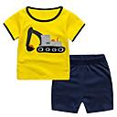 זול נעליים לטיניות-סט של בגדים שרוולים קצרים קולור בלוק בנים ילדים / פעוטות
