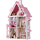 cheap Doll Houses-Dollhouse Large / Hand-made House 1pcs Pieces Kid's / Adults Gift