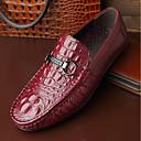 זול נעלי אוקספורד לגברים-בגדי ריקוד גברים מוקסין עור אביב נעליים ללא שרוכים שחור / חום / Wine / בָּחוּץ