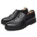 זול נעלי ספורט לגברים-בגדי ריקוד גברים PU אביב נוחות נעליים ללא שרוכים שחור / צהוב / אדום