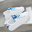 זול סניקרס לנשים-בגדי ריקוד נשים נעליים PU אביב קיץ נוחות נעלי ספורט שטוח שחור / אדום / כחול