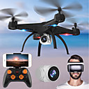 billige 3D-puslespill-RC Drone KY501W BNF 4 Kanaler 6 Akse 2.4G Med HD-kamera 2.0MP 720P Fjernstyrt quadkopter FPV / En Tast For Retur / Hodeløs Modus Fjernstyrt Quadkopter / Fjernkontroll / Blader