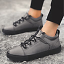 cheap Mice-Men's Leather Summer Comfort Sneakers Black / Gray