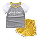 cheap Latin Shoes-Kids Toddler Boys' Color Block Short Sleeves Clothing Set