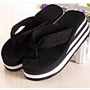זול כפכפים ונעלי בית לנשים-בגדי ריקוד נשים נעליים EVA קיץ נוחות כפכפים & כפכפים עקב טריז בוהן עגולה שחור / פוקסיה