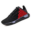 זול סניקרס לגברים-בגדי ריקוד גברים PU סתיו נוחות נעלי אתלטיקה ריצה קולור בלוק שחור לבן / שחור אדום