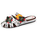 ieftine Sandale de Damă-Pentru femei Pantofi PU Vară Pantof cu Berete Saboți Plimbare Toc Drept Vârf deschis Ținte Alb / Negru