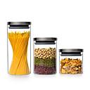 זול צנצנות ותיבות-ארגון המטבח שימור וקונסרבציה / אחסון מזון זכוכית אחסון / גוף שקוף / קל לשימוש 3pcs