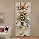 halpa Seinätarrat-Koriste-seinätarrat - 3D-seinätarrat Maisema / Eläimet Työhuone / toimisto / Kids Room