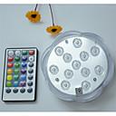 abordables Utensilios de Horno-1pc 5 W Luces Bajo el Agua Impermeable / Control remoto / Regulable RGB 4.5 V Conveniente para los floreros y los acuarios 12 Cuentas LED