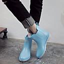 povoljno Ženske ravne cipele-Žene Cipele Eko koža Jesen Čizme za kišu Čizme Niska potpetica Crn / Pink / Svjetloplav
