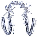 preiswerte Strumpfbänder für die Hochzeit-Polyester Kopfbedeckung mit Kunstperlen / Quaste / Blume 1pc Hochzeit / Geburtstag Kopfschmuck