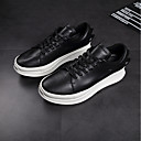 cheap Men's Boots-Men's Leather Fall Comfort Sneakers White / Black
