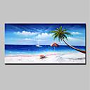 ieftine Picturi în Ulei-Hang-pictate pictură în ulei Pictat manual - Abstract / Peisaj Modern Includeți cadru interior / Stretched Canvas
