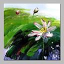 baratos Pinturas Abstratas-Pintura a Óleo Pintados à mão - Abstrato / Floral / Botânico Vintage Tela de pintura