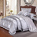 cheap Contemporary Duvet Covers-Duvet Cover Sets Luxury Silk / Cotton Blend Jacquard 4 PieceBedding Sets / 500 / 4pcs (1 Duvet Cover, 1 Flat Sheet, 2 Shams)