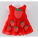 tanie Sukienki dla niemowląt-Dziecko Dla dziewczynek Aktywny Owoc Zebrany / Niejednolita całość Bez rękawów Przed kolano Bawełna Sukienka / Brzdąc