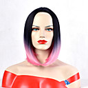 cheap Eyeshadows-Synthetic Wig Women's Wavy Ombre Bob / Pixie Cut / Short Bob Synthetic Hair Heat Resistant / Synthetic / New Arrival Ombre Wig Short Capless Black / Pink / Yes