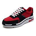 זול נעלי בית וכפכפים לגברים-בגדי ריקוד גברים אור סוליות בד סתיו נעלי ספורט שחור / אפור / אדום