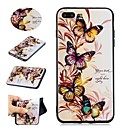 cheap Cell Phone Cases & Screen Protectors-Case For Apple iPhone X / iPhone 8 Pattern Back Cover Butterfly Soft TPU for iPhone X / iPhone 8 Plus / iPhone 8