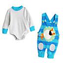 ieftine Set Îmbrăcăminte Băieți Bebeluși-Bebelus Unisex De Bază Zilnic Dungi Manșon Lung Regular Poliester Set Îmbrăcăminte Albastru piscină 80 / Copil