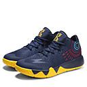 זול נעלי ספורט לגברים-בגדי ריקוד גברים רשת אביב / סתיו נוחות נעלי אתלטיקה כדורסל אדום / שחור לבן / שחור אדום