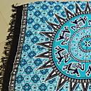 tanie Ręcznik plażowy-Najwyższa jakość Ręcznik plażowy, Kreatywne / Geometryczny 100% mikrofibra 1 pcs