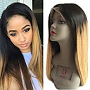 cheap Human Hair Wigs-Remy Human Hair Unprocessed Human Hair Lace Front Wig Brazilian Hair Straight Light Brown Wig 130% Density with Baby Hair Natural Hairline Unprocessed Bleached Knots Light Brown Women's Short Medium