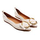 זול נעלים שטוחות לנשים-בגדי ריקוד נשים PU אביב נוחות שטוחות עקב נמוך שחור / שקד
