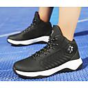 זול נעלי ספורט לגברים-בגדי ריקוד גברים PU סתיו נוחות נעלי אתלטיקה כדורסל כחול / שחור לבן