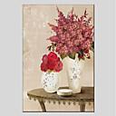 ieftine Picturi în Ulei-Hang-pictate pictură în ulei Pictat manual - Floral / Botanic Modern Includeți cadru interior / Stretched Canvas