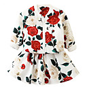 ieftine Topuri Fete-Copii Fete Floral Manșon Lung Set Îmbrăcăminte