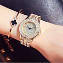 hesapli Kadın Saatleri-Kadın's Elbise Saat / Bilek Saati Japonca Yeni Dizayn / Gündelik Saatler / imitasyon Pırlanta Paslanmaz Çelik Bant Moda / Zarif Gümüş / Altın Rengi / Gül Altın / Sony SR920SW / İki yıl
