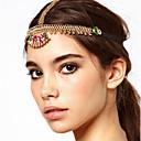 halpa Hiuskorut-Naisten Boheemi Etninen Kristalli Headwear Otsakorut-Color Block Katkaistu / Metalliseos