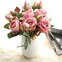 זול פרחים מלאכותיים-פרחים מלאכותיים 5 ענף כפרי / חתונה ורדים / פרחים נצחיים פרחים לשולחן