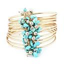 cheap Wedding Wraps-Synthetic Tanzanite Stack Wrap Bracelet - Resin Floral / Botanicals, Flower Vintage, Fashion Bracelet Black / Red / Blue For Daily / Street