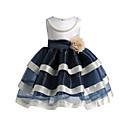 preiswerte Kleider für Mädchen-Kinder Mädchen Party Gestreift Ärmellos Polyester Kleid Fuchsia / Niedlich