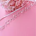 ieftine Panglici de Nuntă-Satin / Tul Nuntă / Party / Seara Cercevea Cu Cristal / Imitație de Perle Pentru femei Panglici