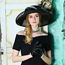 זול הד פיס למסיבות-טול כובעים עם נוצות / פפיון 1pc אירוע מיוחד / מסיבה\אירוע ערב כיסוי ראש