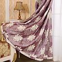 billige Mørkleggingsgardiner-gardiner gardiner Soverom Blomstret 100% Polyester Mønstret Mønstret