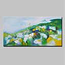 abordables Peintures Abstraites-Peinture à l'huile Hang-peint Peint à la main - Abstrait Paysage Moderne Inclure cadre intérieur / Toile tendue