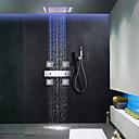 ราคาถูก ก๊อกฝักบัว-ก๊อกน้ำฝักบัว - ร่วมสมัย มีสี ระบบฝักบัว Ceramic Valve Bath Shower Mixer Taps / Brass