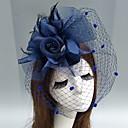 זול תיקי ערב וקלאצ'ים-עור / רשת מפגשים / כובעים / אביזר לשיער עם נוצות / פרחוני / פרח 1pc חתונה / אירוע מיוחד כיסוי ראש