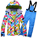 cheap Ski Gloves-GQY® Women's Ski Jacket with Pants Windproof, Waterproof, Thermal / Warm Ski / Snowboard / Winter Sports Polyester Clothing Suit Ski Wear