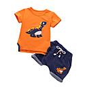 ieftine Pantaloni Băieți-Copil Băieți De Bază Mată Manșon scurt Bumbac Set Îmbrăcăminte Alb 100